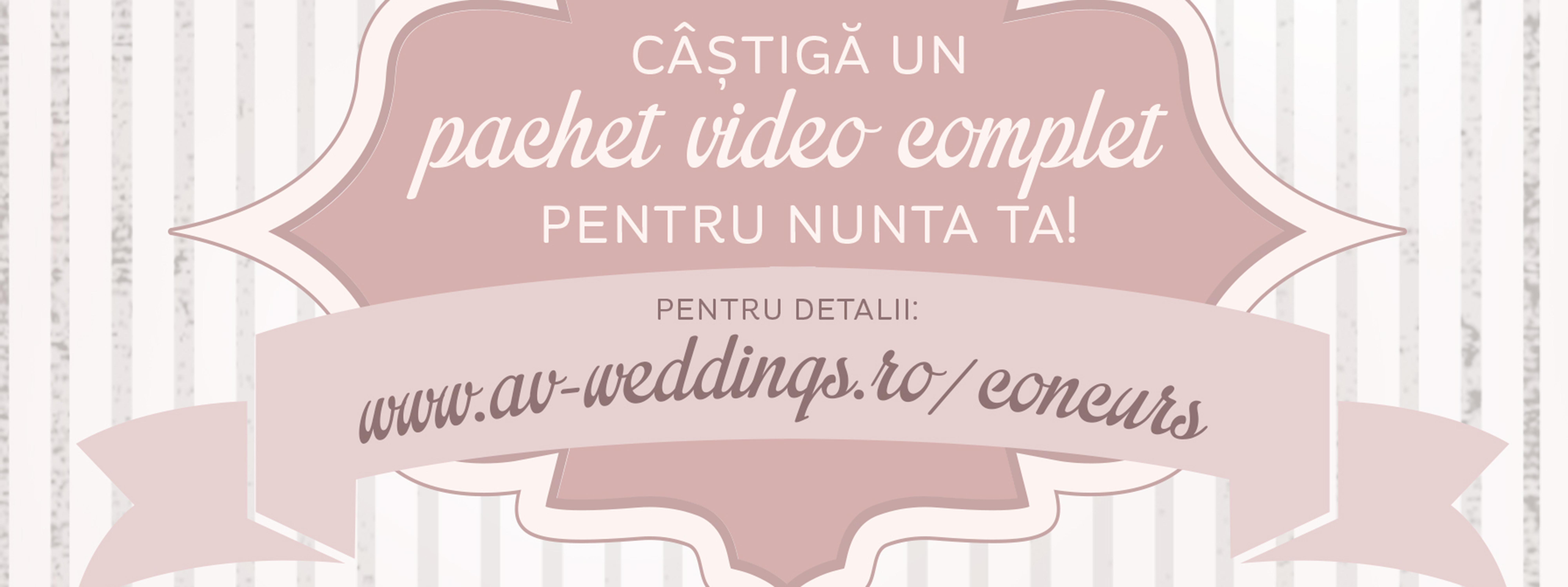 De ce sa participati la concursul organizat de AV Weddings